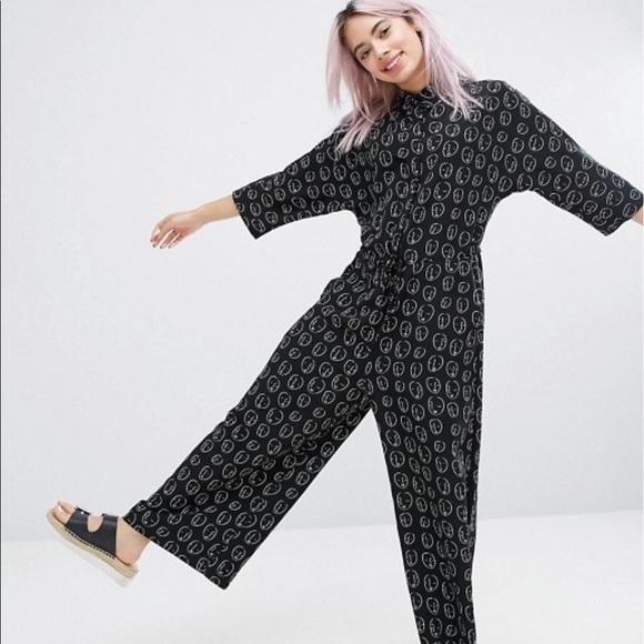 72c0f9317488 ASOS Pants - MONKI face print jumpsuit